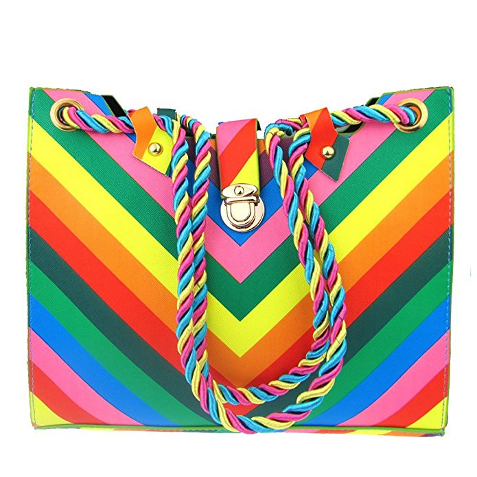 Donalworld Candy Rainbow Tote
