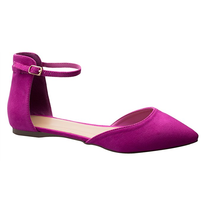 OLIVIA K D'orsay Pointed Toe Flat from Amazon
