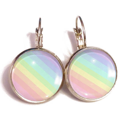 Pastel Rainbow Earrings