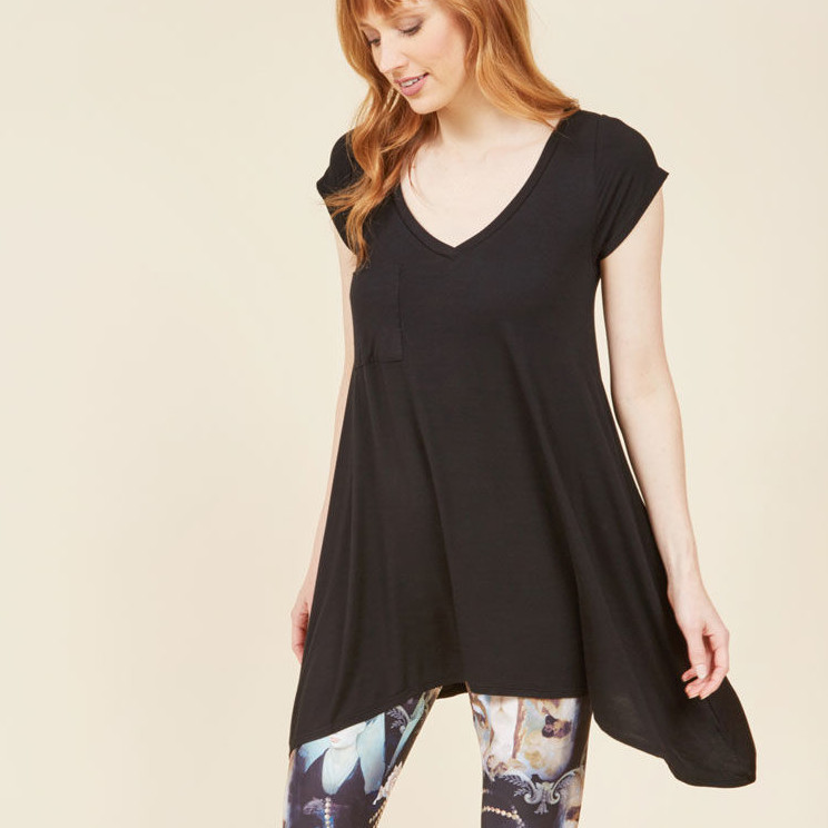 A Crush on Casual Tunic in Black