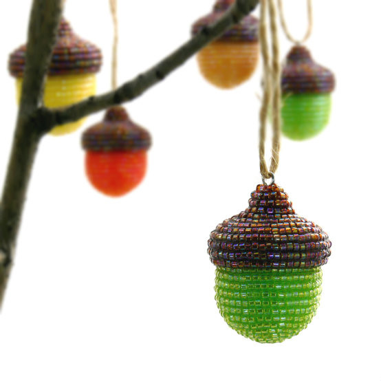 Beaded Acorn Ornament