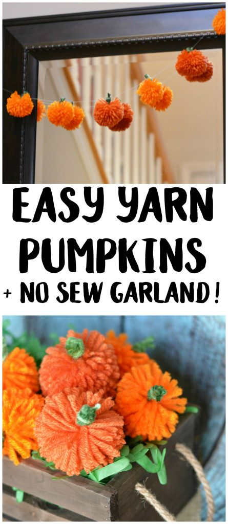 25 Easy Fall DIY Projects: Easy DIY Yarn Pumpkins by Not Quite Suzie Homemaker