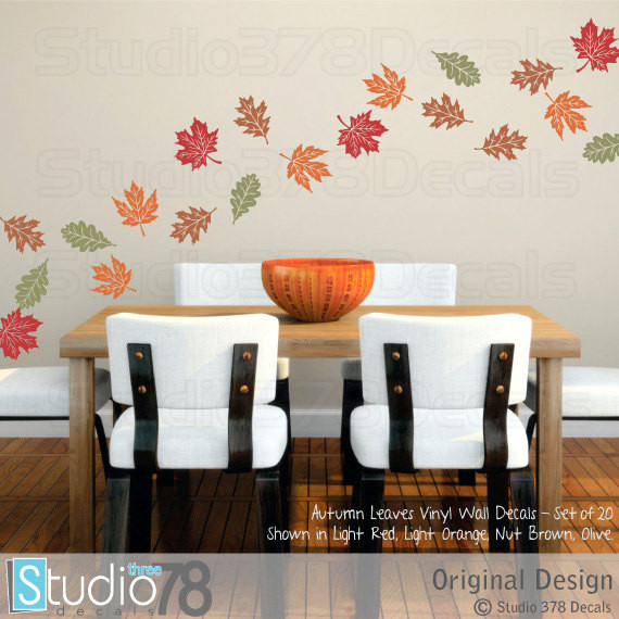 Fall Leaves Wall Decals