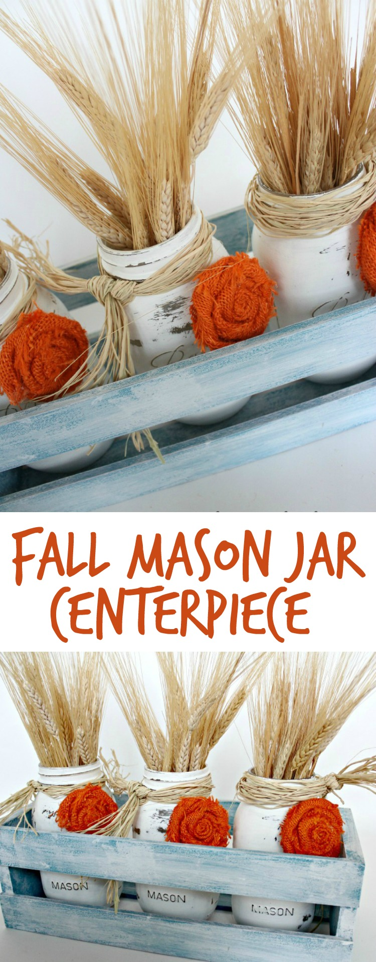 25 Easy Fall DIY Projects: Easy Fall Mason Jar Centerpieces by Oh My! Creative