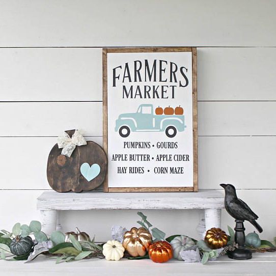 Farmers Market Harvest Sign
