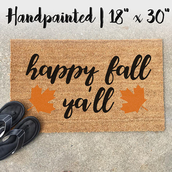 Happy Fall Ya'll Doormat