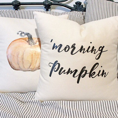 Morning Pumpkin Pillow Cover
