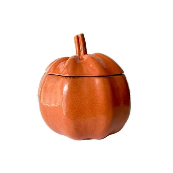 Vintage Pumpkin Cookie Jar