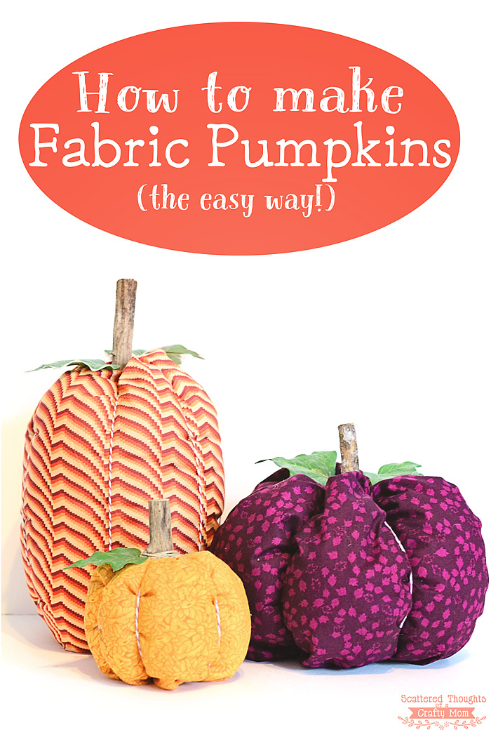 25 Easy Fall DIY Projects: Easy Fabric Pumpkins by Jamie Sanders