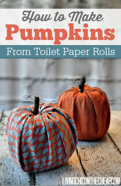 25 Easy Fall DIY Projects: How to Make Pumpkins from Toilet Paper Rolls by Living Chic