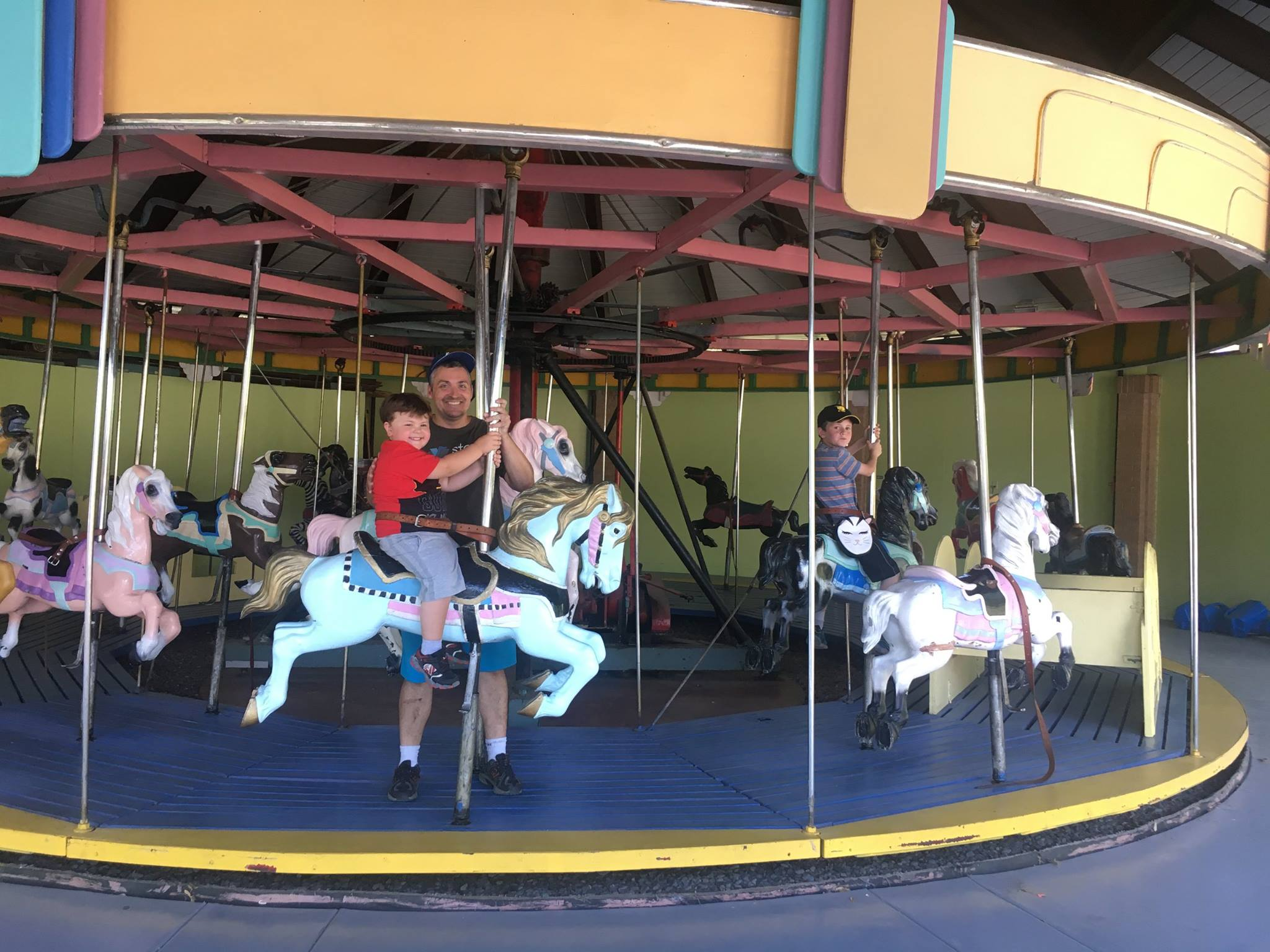 Riding the Carousel at Liberty Park