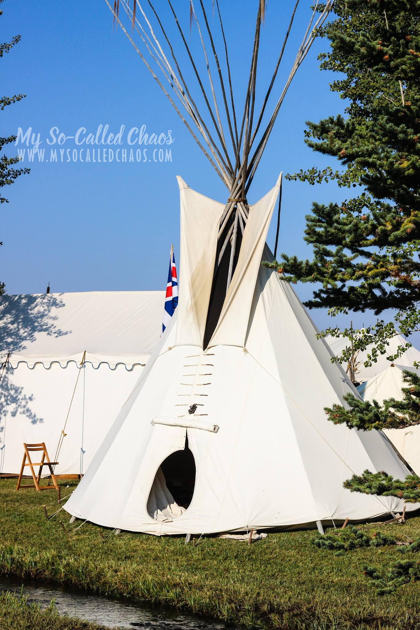 Tipi at Fort Bridger Rendezvous