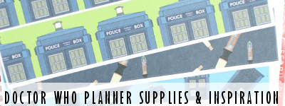 Doctor Who Planner Supplies and Inspiration