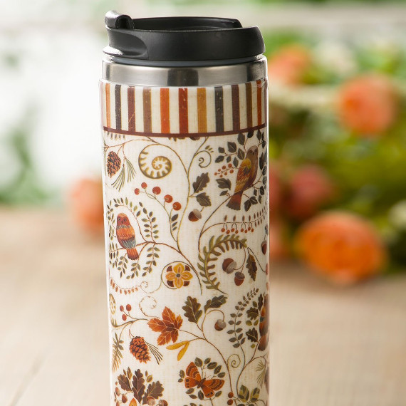 Fall Florals Travel Mug