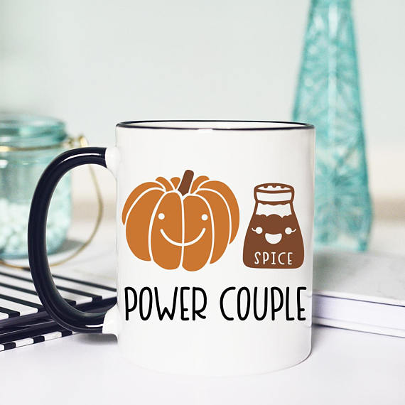Pumpkin Spice Power Couple Mug