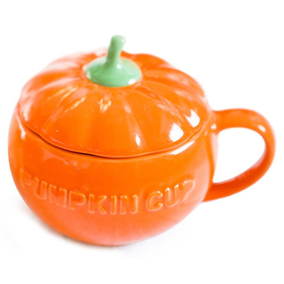 Pumpkin Coffee Mug with Lid