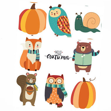 Woodland Autumn Animals Full Box Stickers