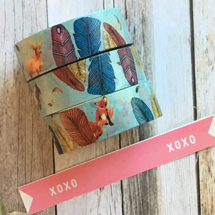 Fox & Feather Washi Tape