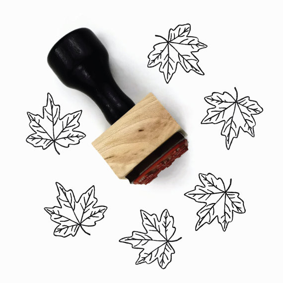 Rubber Stamp Maple Leaf