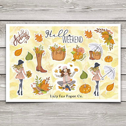 Hello Fall Deco Sheet