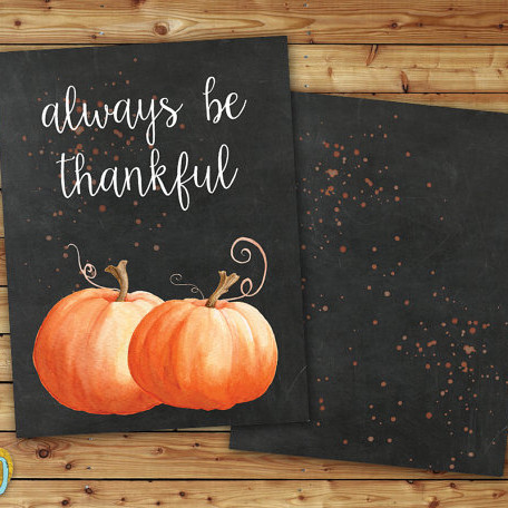 Always Be Thankful Printable Planner Cover