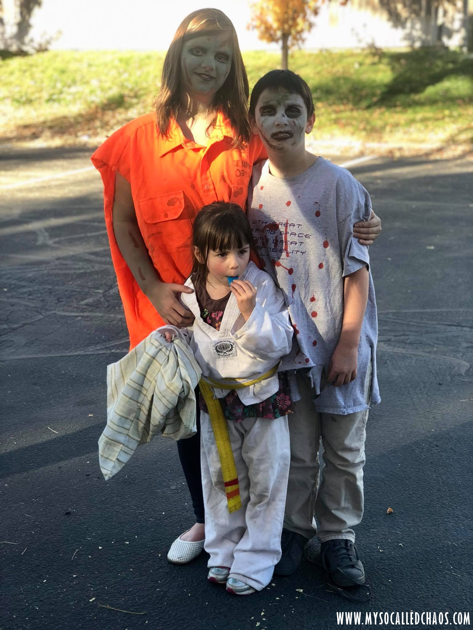 My Godkids at AOU Trunk or Treat 2017