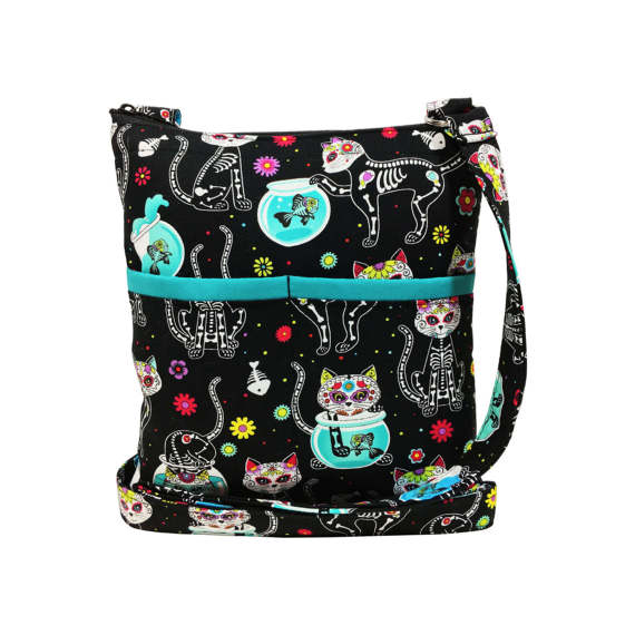 Sugar Skull Kitties Bag