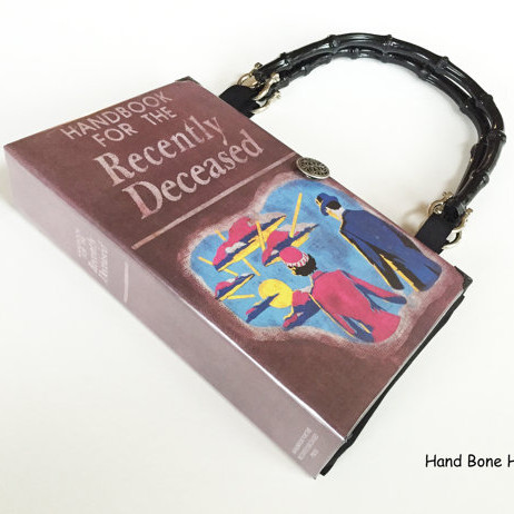 Handbook for the Recently Deceased Recycled Book Purse