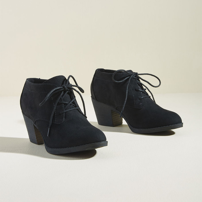 Attention, Everyone! Block Heel Bootie in Black from ModCLoth