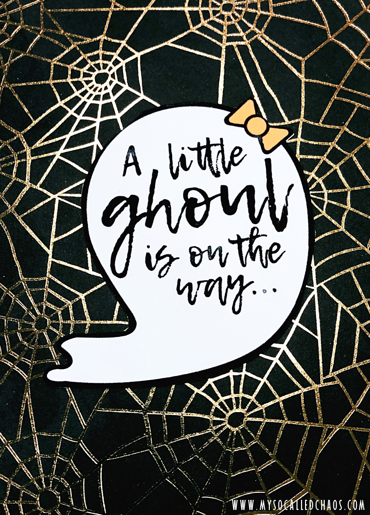 Halloween-Themed Baby Shower Invite