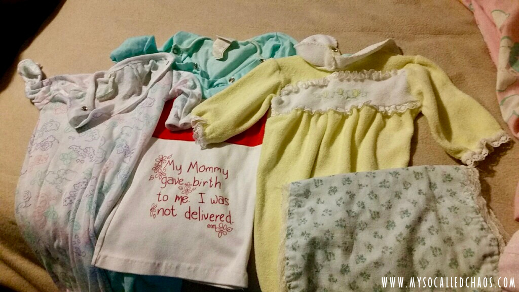 My mom kept some of my outfits from when I was very small...