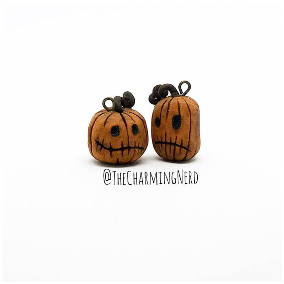 Pumpkin King Inspired Earrings