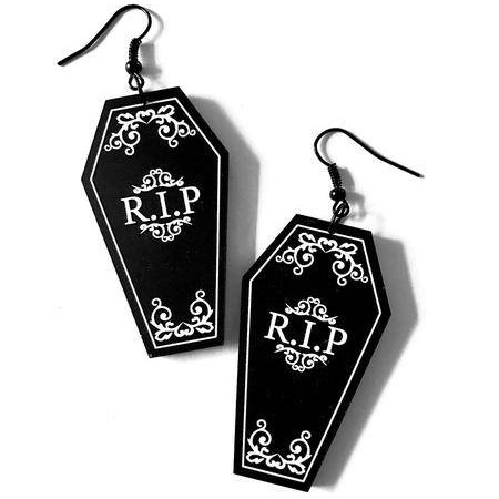 Coffin Earrings - handmade via Etsy