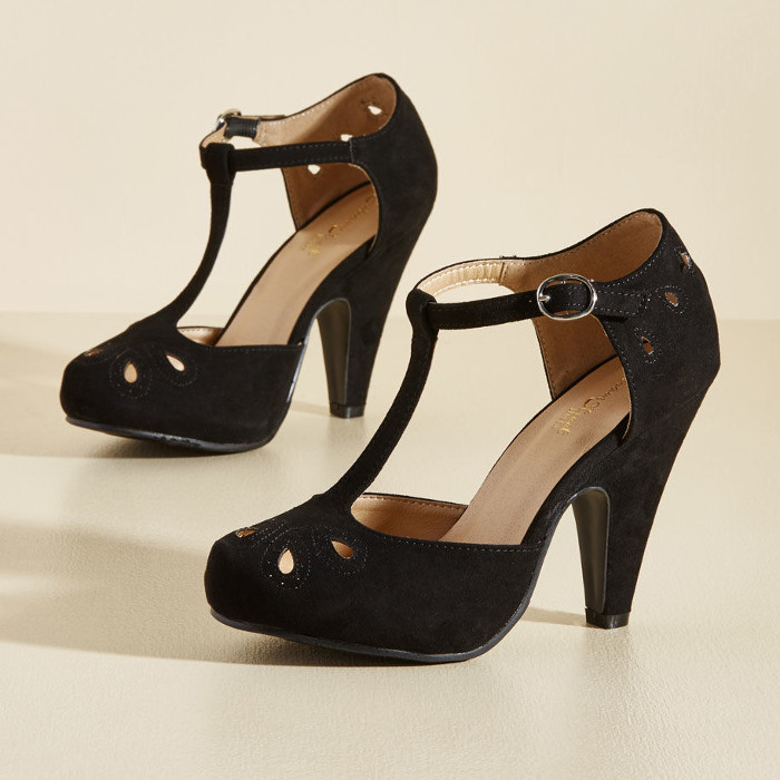 The Zest Is History Heel in Black via ModCloth