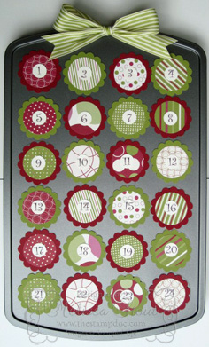 Mini Cupcake Pan Advent Calendar