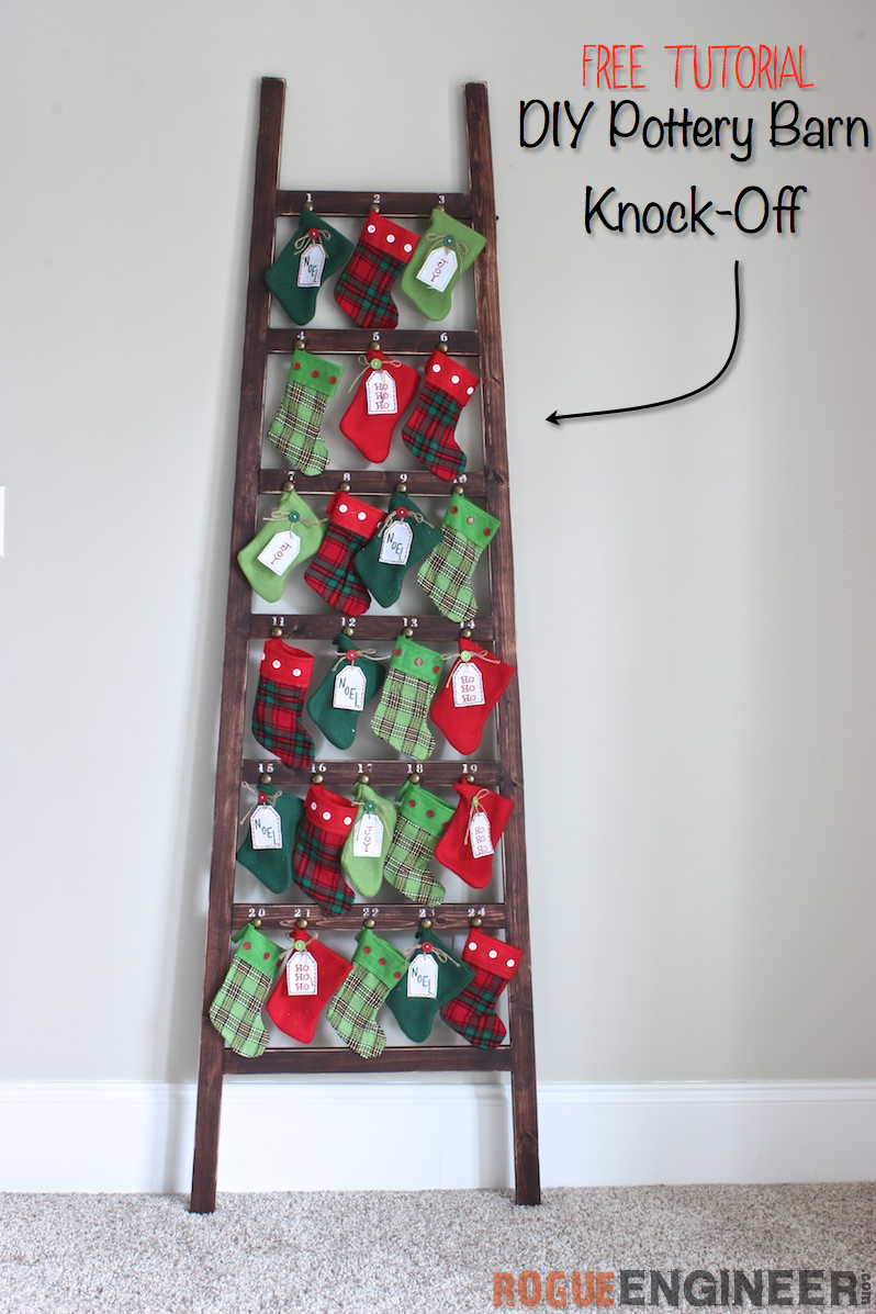 Knock-Off Pottery Barn Stocking Advent Calendar