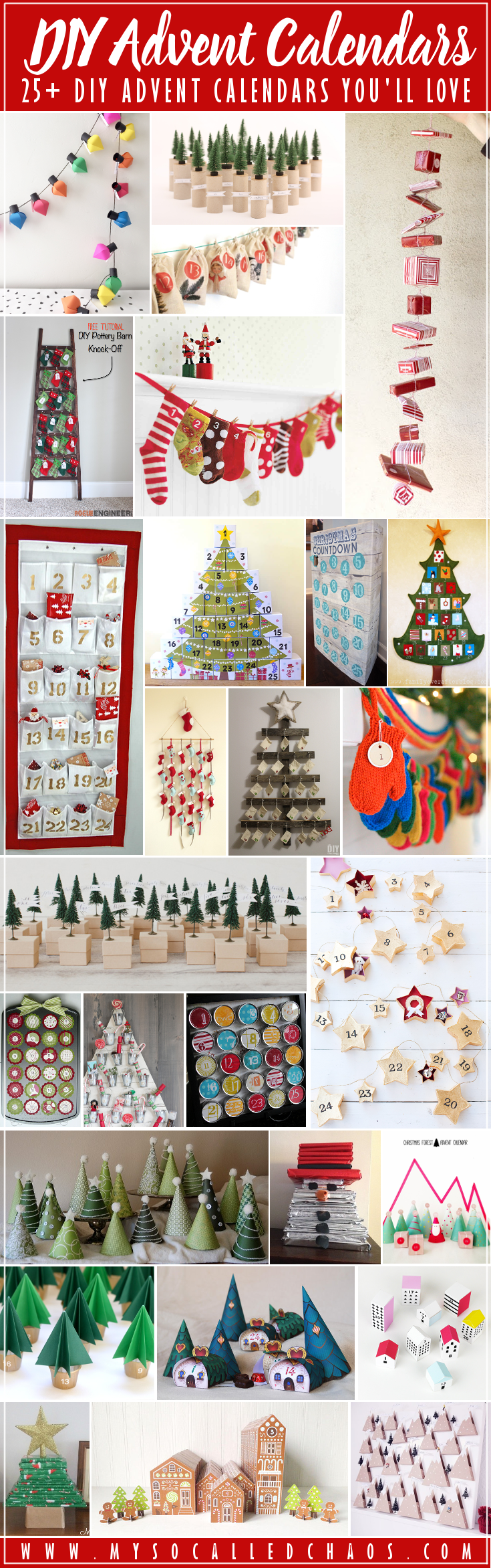 25+ DIY Advent Calendars for Your Christmas Countdown