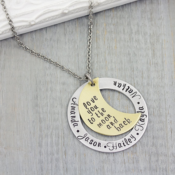 Hand Stamped Mothers Necklace