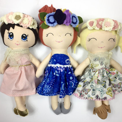 Custom Boho Cloth Doll