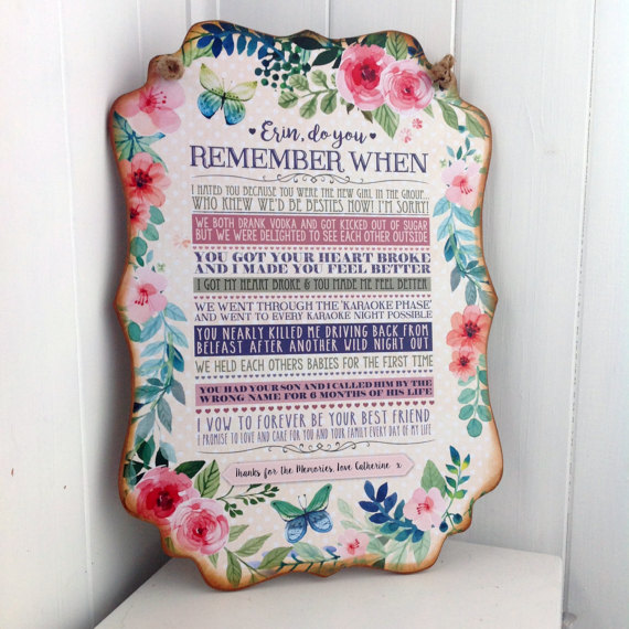 Personalized Memory Sign