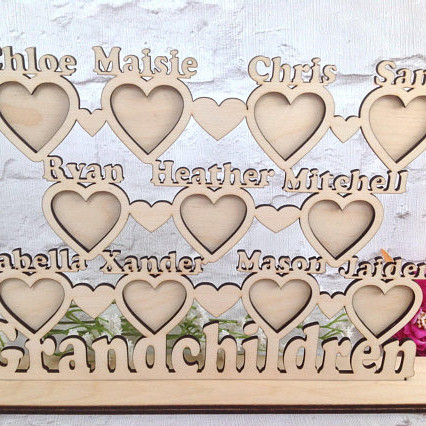Grandchildren Personalized Photo Plaque