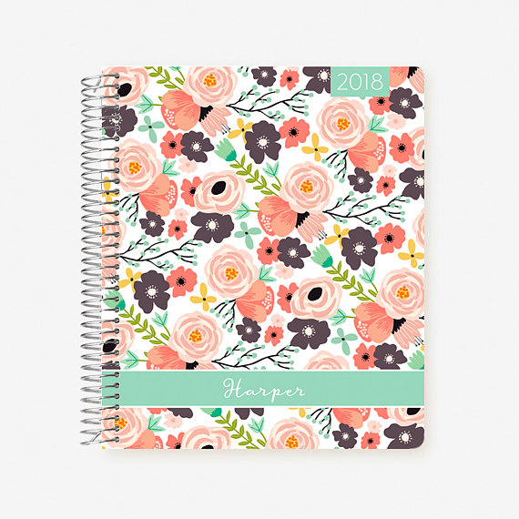 Personalized Plum Paper Planner