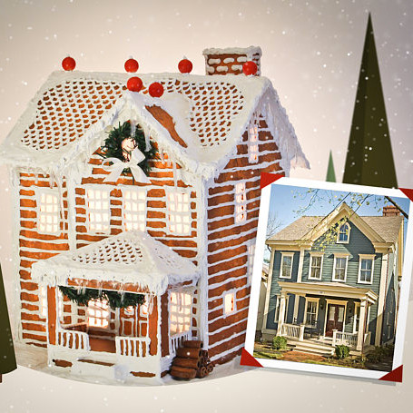 Custom Faux Gingerbread Home