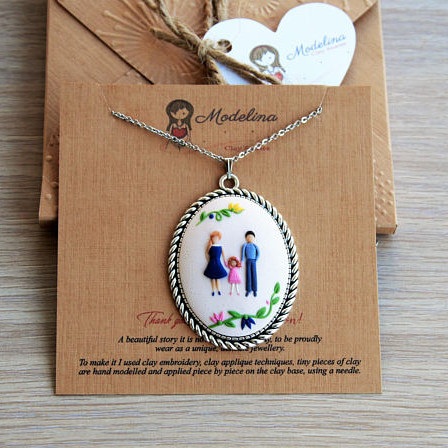 Personalized Family Portrait Necklace