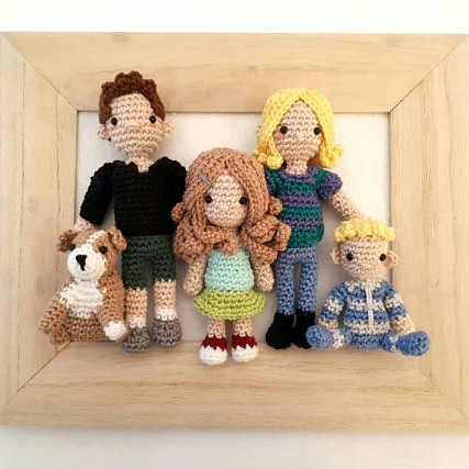 Custom Crochet Family Dolls