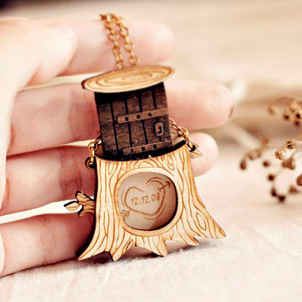 Personalized Message in Tree Locket