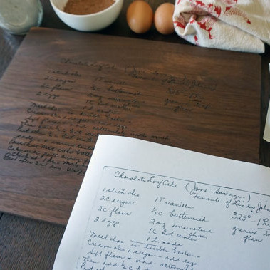 Grandma's Cherished Recipe Custom Cutting Board