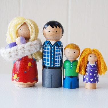 Custom Family Wooden Dolls
