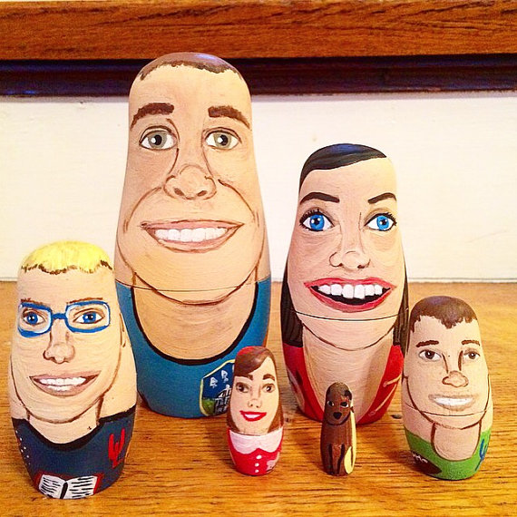Custom Portrait Nesting Dolls