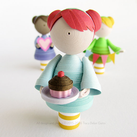 Custom Quilled Paper Art Doll